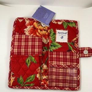 April Cornell wallet NWT red floral and plaid